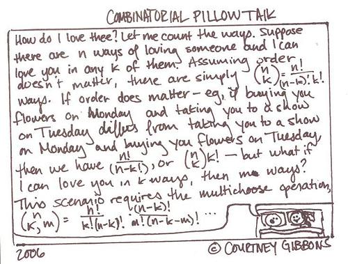 Combinatorial Pillow Talk