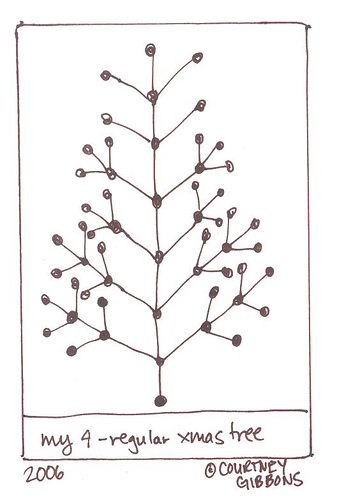 My 4-regular Christmas Tree
