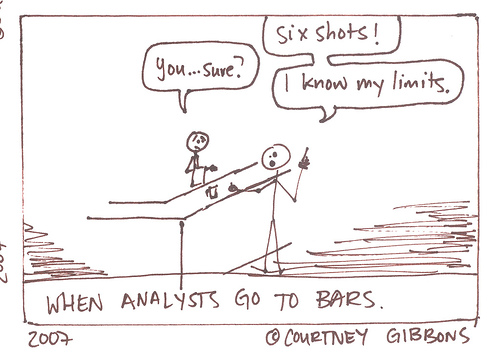 When Analysts go to Bars