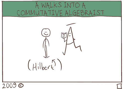 A bar walks into a commutative algebraist