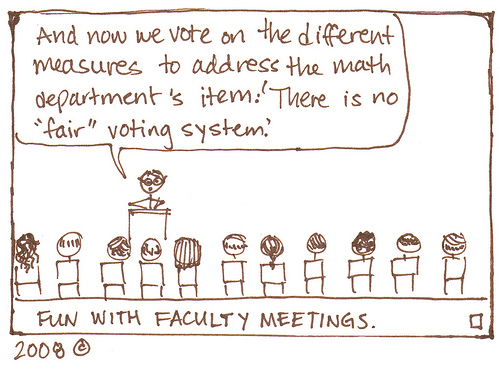 Fun with Faculty Meetings